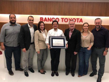 """Banco Toyota do Brasil recebeu título de empresa """"Parceira do Bem"""" da Funfarme"""