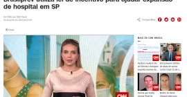 Confira a matéria da CNN sobre a doação da Brasilprev para o Adote um Leito